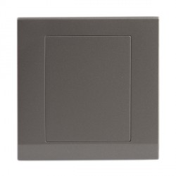 Retrotouch Simplicity Mid Grey Blank Plate