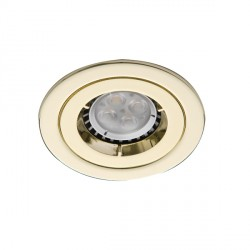 Ansell iCage Mini 50W Fixed GU10 Brass Downlight