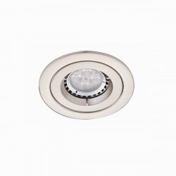 Ansell iCage Mini 50W Fixed GU10 Satin Chrome Downlight