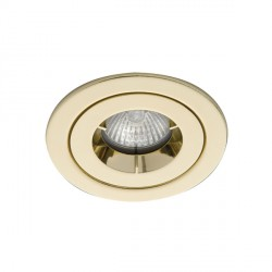 Ansell iCage Mini IP65 50W Fixed GU10 Brass Downlight