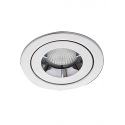 Ansell iCage Mini IP65 50W Fixed GU10 Chrome Downlight