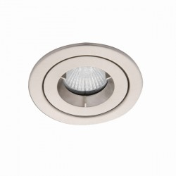 Ansell iCage Mini IP65 50W Fixed GU10 Satin Chrome Downlight