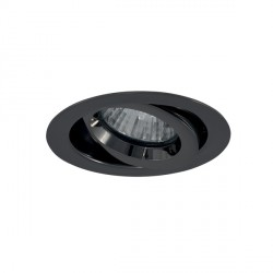 Ansell iCage Mini 50W Gimbal GU10 Black Chrome Downlight