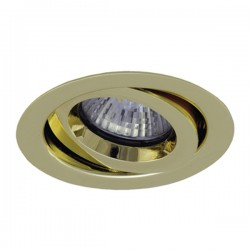Ansell iCage Mini 50W Gimbal GU10 Brass Downlight