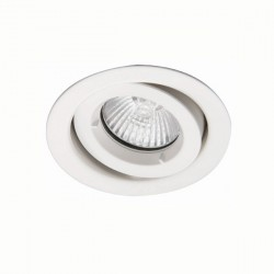 Ansell iCage Mini 50W Gimbal GU10 Matt White Downlight