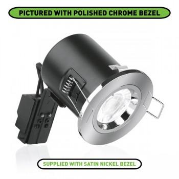 Enlite EFD 50W Fixed GU10 Downlight with Satin Nickel Bezel