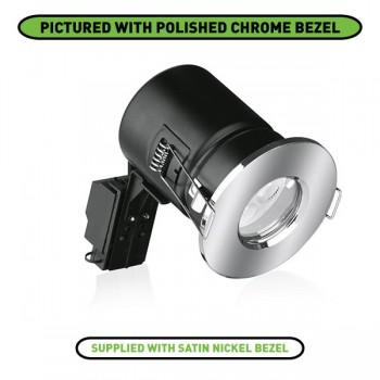 Enlite EFD IP65 50W Fixed GU10 Downlight with Satin Nickel Bezel