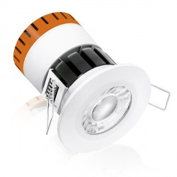 Aurora Lighting E8 8W Warm White Dimmable Fixed LED Downlight