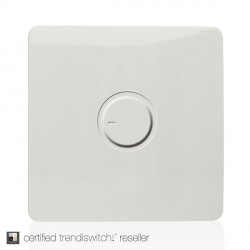 Trendi White 1 Gang 1 Way Dimmer Switch