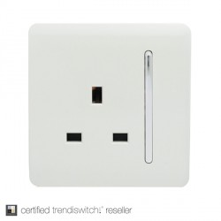 Trendi White 1 Gang 13A Long Switched Socket