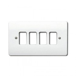 MK Electric Logic Plus™ White 4 Module Grid Plate