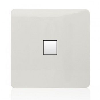 Trendi White 1 Gang Telephone Socket