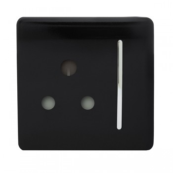 Trendi Black 15A 1 Gang Round Pin Switched Socket
