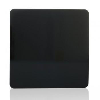 Trendi Black 1 Gang Blank Plate