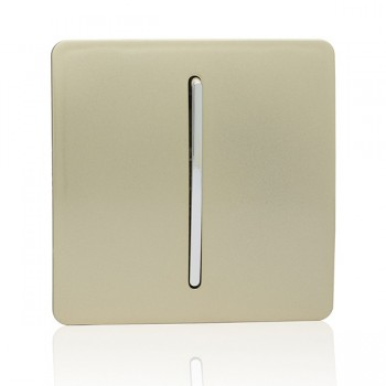 Trendi Gold 1 Gang 2 Way Rocker Light Switch