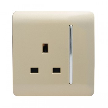 Trendi Gold 1 Gang 13A Long Switched Socket