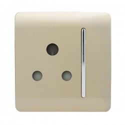 Trendi Gold 15A 1 Gang Round Pin Switched Socket