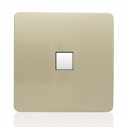 Trendi Gold 1 Gang Telephone Socket