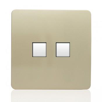 Trendi Gold Telephone/Ethernet Socket