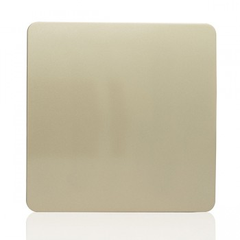 Trendi Gold 1 Gang Blank Plate