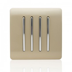 Trendi Gold 4 Gang 2 Way Rocker Light Switch
