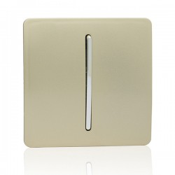 Trendi Gold 1 Gang Intermediate Rocker Light Switch