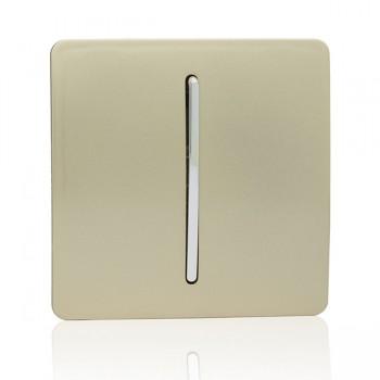 Trendi Gold 1 Gang Intermediate Rocker Light Switch