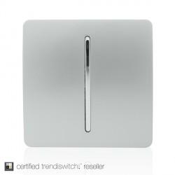 Trendi Silver 1 Gang 1 Way Rocker Light Switch