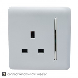 Trendi Silver 1 Gang 13A Long Switched Socket