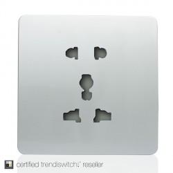 Trendi Silver 1 Gang 10A Multi-Pin Socket