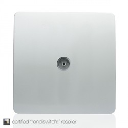 Trendi Silver TV Co-axial Socket