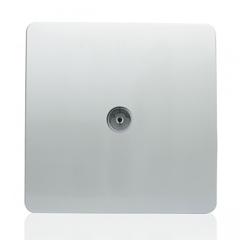 Trendi Silver TV Co-axial Socket