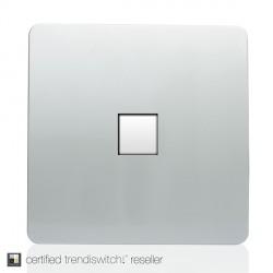Trendi Silver 1 Gang Ethernet Socket