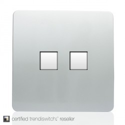 Trendi Silver Telephone/Ethernet Socket