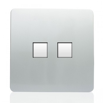 Trendi Silver Telephone/Ethernet Socket