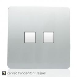 Trendi Silver 2 Gang Ethernet Socket