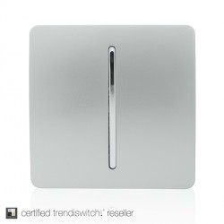 Trendi Silver 1 Gang Intermediate Rocker Light Switch