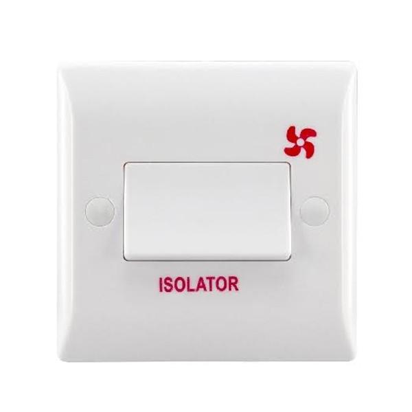 Hamilton Vogue 10A 1 Gang Triple Pole Fan Isolation Switch at UK ...