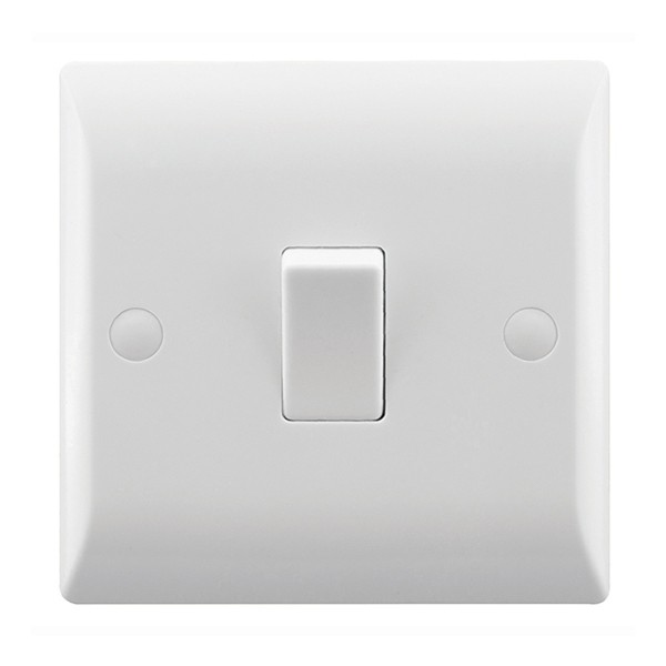 Rocker Light Switch >> Hamilton Vogue 10a 1 Gang 1 Way Rocker Light Switch
