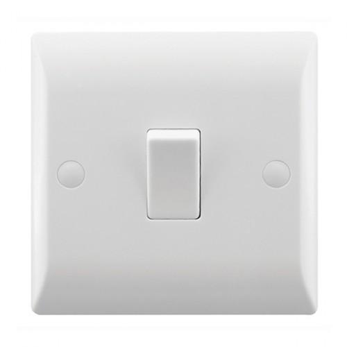 Rocker Light Switch >> Hamilton Vogue 10a 1 Gang 1 Way Rocker Light Switch At Uk Electrical Supplies