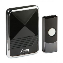 Knightsbridge Black Plug-In Wireless Door Chime