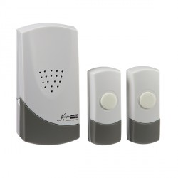 Knightsbridge Wireless Dual Entrance Door Chime Kit