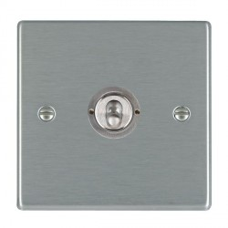 Hamilton Hartland Satin Steel 1 Gang Push To Make Retractive Dolly with Satin Steel Insert