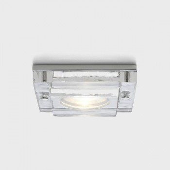 Astro Mint Square GU10 Polished Chrome Bathroom Downlight
