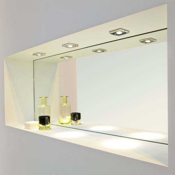 Astro Ice LED Square Polished Chrome Bathroom Downlight at UK ...