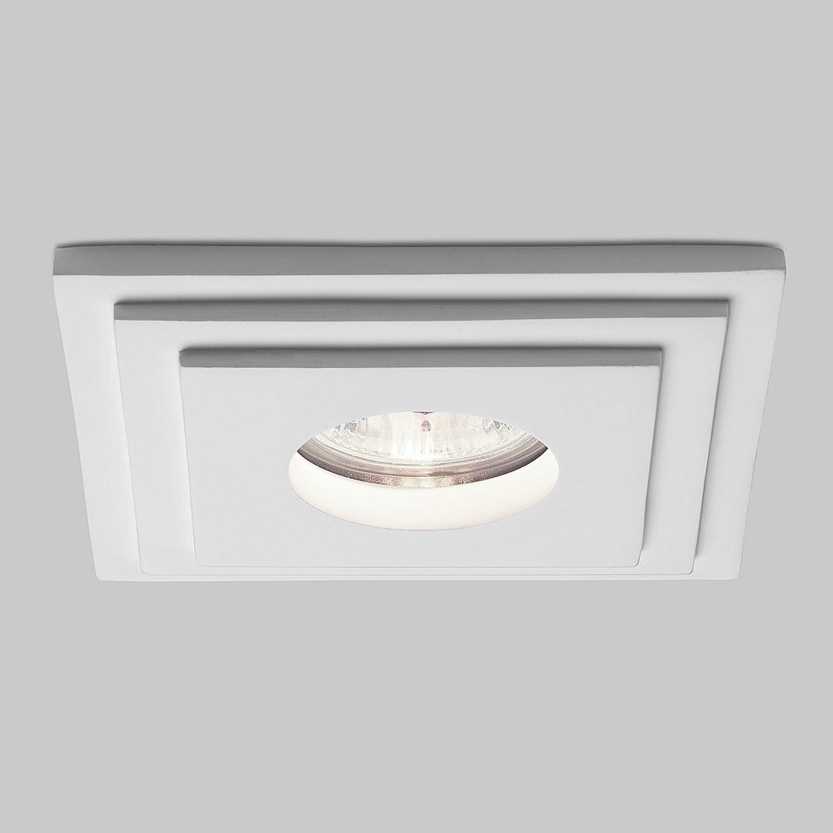 Astro Brembo Square Mr16 Plaster Bathroom Downlight At Uk