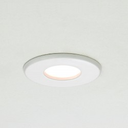 Astro Kamo GU10 White Fire Rated Bathroom Downlight