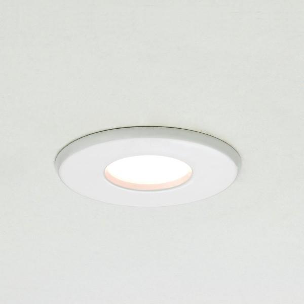 Astro Kamo GU10 White Fire Rated Bathroom Downlight