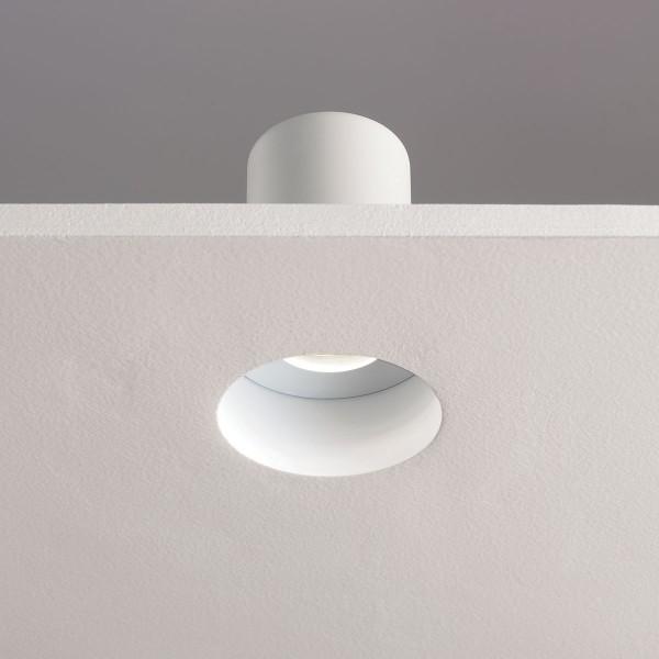 Astro Trimless Round MR16 White Bathroom Downlight