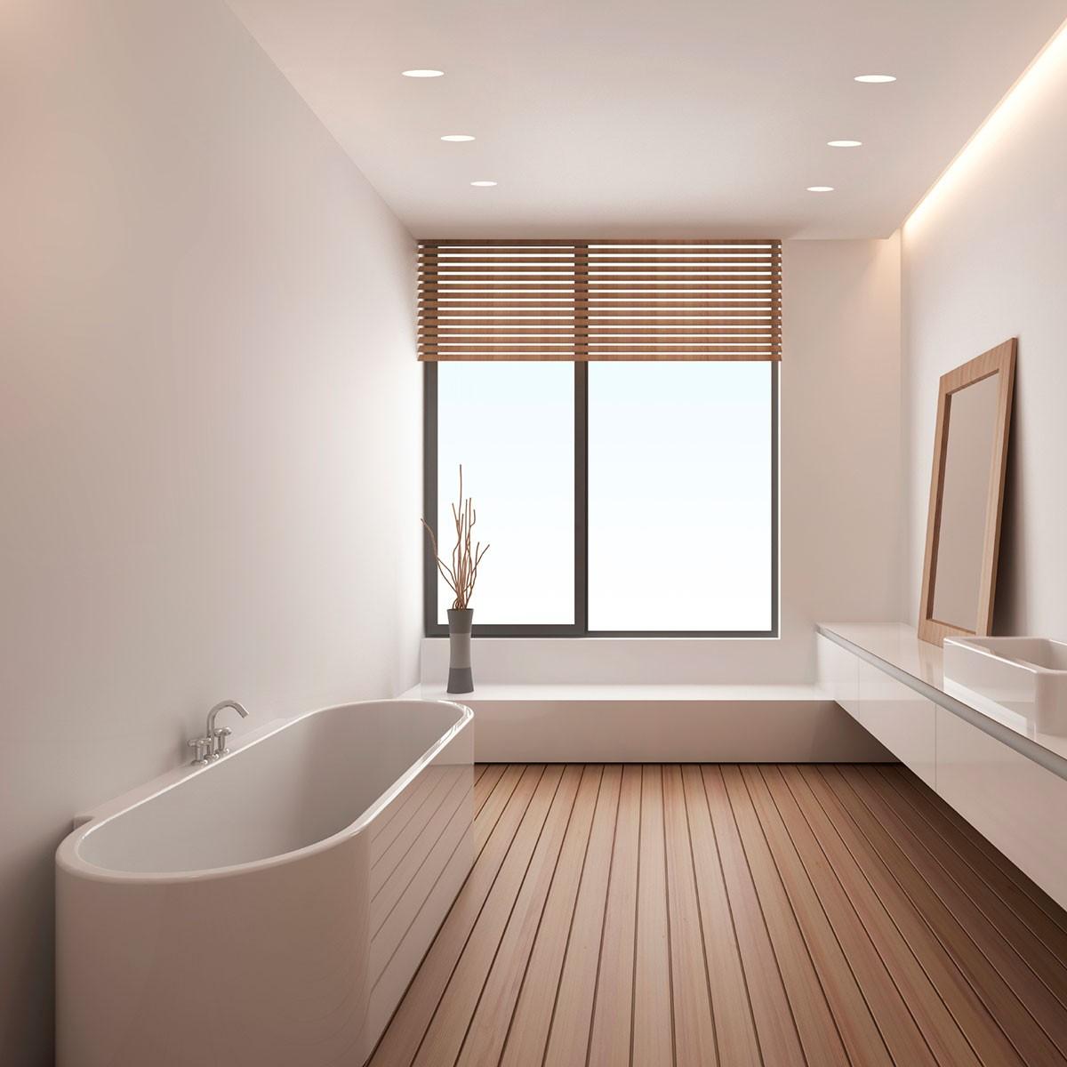 astro trimless round mr16 white bathroom downlight at uk